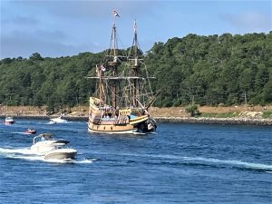 Mayflower II sailing through the Cape Cod Canal