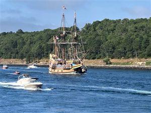 Mayflower II sailing through the Cape Cod Canal